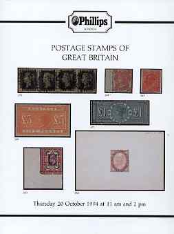 Auction Catalogue - Great Britain - Phillips 20 Oct 1994 - with prices realised