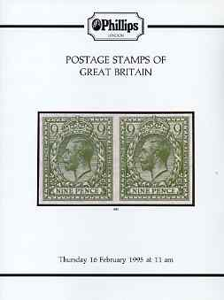 Auction Catalogue - Great Britain - Phillips 16 Feb 1995 - with prices realised