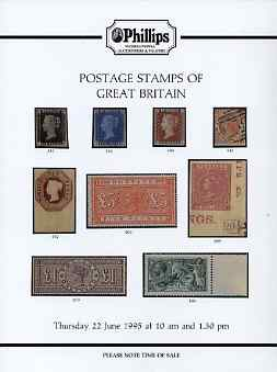Auction Catalogue - Great Britain - Phillips 22 June 1995 - with prices realised