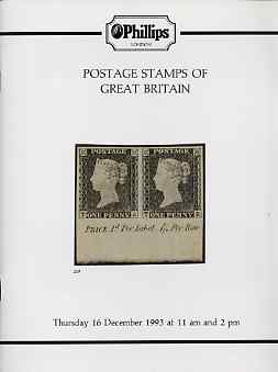Auction Catalogue - Great Britain - Phillips 16 Dec 1993 - with prices realised
