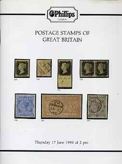 Auction Catalogue - Great Britain - Phillips 17 June 1993 - with prices realised