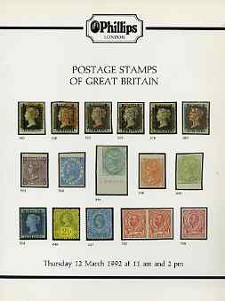 Auction Catalogue - Great Britain - Phillips 12 Mar 1992 - with prices realised