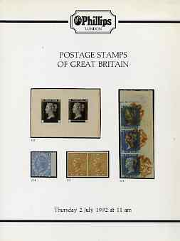 Auction Catalogue - Great Britain - Phillips 2 July 1992 - with prices realised