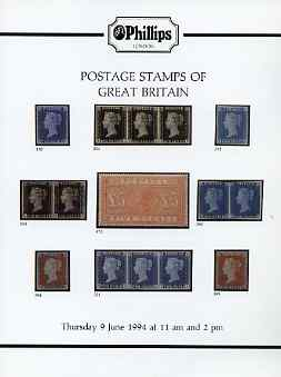 Auction Catalogue - Great Britain - Phillips 9 June 1994 - cat only