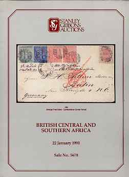 Auction Catalogue - British Central & Southern Africa - Stanley Gibbons 22 Jan 1990 - with prices realised