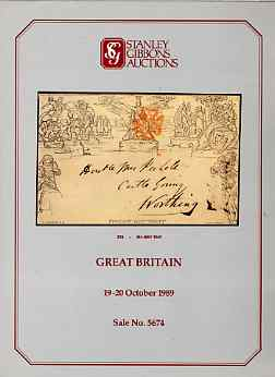 Auction Catalogue - Great Britain - Stanley Gibbons 19-20 Oct 1989 - incl Railway Stamps - cat only (few ink notations)