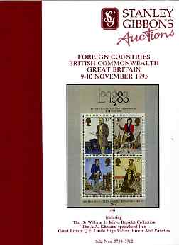 Auction Catalogue - Great Britain - Stanley Gibbons 9-10 Nov 1995 - incl the Mayo Booklet coll, Khatami