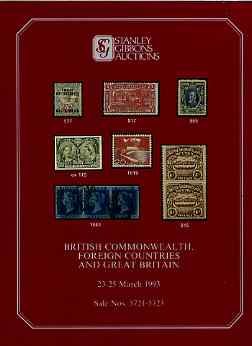 Auction Catalogue - British Commonwealth - Stanley Gibbons 23-25 Mar 1993 - plus Great Britain & Foreign) - with prices realised (few ink notations)