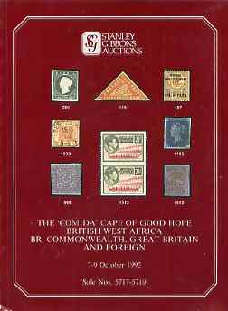 Auction Catalogue - Cape of Good Hope - Stanley Gibbons 7-9 Oct 1992 - The Comida coll plus Commonwealth, BWA, Great Britain & Foreign) - cat only (some ink notations)