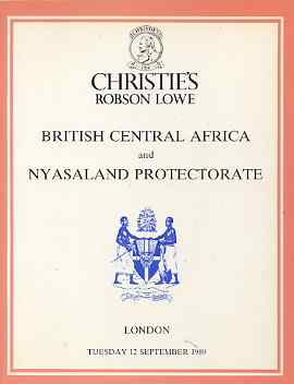 Auction Catalogue - British Central Africa & Nyasaland - Christie