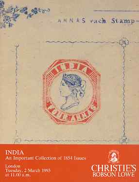 Auction Catalogue - India 1854 Issues - Christie