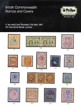 Auction Catalogue - British Commonwealth - Phillips 17 Apr 1997 - cat only