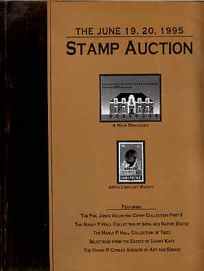 Auction Catalogue - Worldwide - Superior 19-20 june 1995 - incl Phil Jones Valentines, Manly P Hall coll of India & States & Tibet, the Frank P Conley archive of Art & Es...