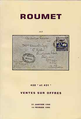 Auction Catalogue - France - Roumet 31 Jan & 14 Feb 1995 - cat only