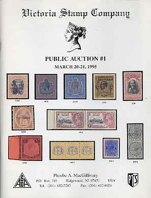 Auction Catalogue - Bermuda & Falklands - Victoria Stamp Co 20-21 Mar 1995 - cat only