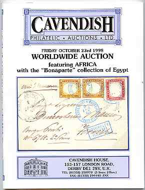 Auction Catalogue - Egypt - Cavendish 23 October 1998 - the