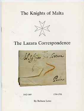 Auction Catalogue - Knights of Malta - Robson Lowe - the Lazara Correspondence - 32 page handbook