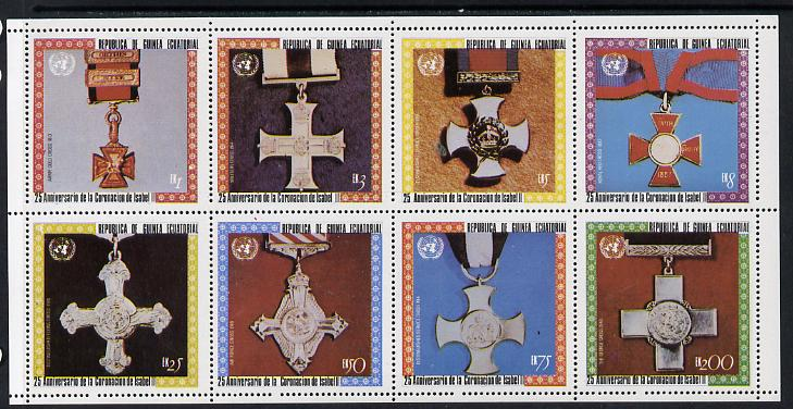 Equatorial Guinea 1978 Coronation 25th Anniversary (Medals) perf set of 8 unmounted mint (Mi 1386-93A)