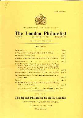 Literature - London Philatelist Vol 85 Number 0997-98 dated Jan-Feb 1976 - with articles relating to Sierra Leone, British West Indies (The Royal Collection), Archives & ...