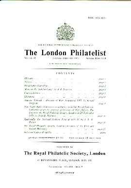 Literature - London Philatelist Vol 86 Number 1009-10 dated Jan-Feb 1977 - with articles relating to Handstamps & Cancellers, Forgeries (The London Gang),Nyasaland, New S...