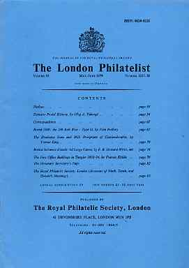 Literature - London Philatelist Vol 88 Number 1037-38 dated May-June 1979 - with articles relating to Brazil, Czechoslovakia, British Solomon Islands & Tangier