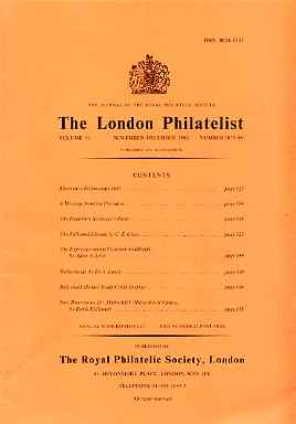 Literature - London Philatelist Vol 91 Number 1079-80 dated Nov-Dec 1982 - with articles relating to Falkland Islands, Netherlands, Italy & Colonies & Malta