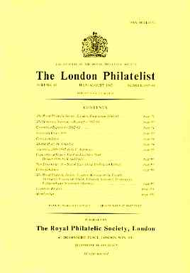 Literature - London Philatelist Vol 92 Number 1087-88 dated Jul-Aug 1983 - with articles relating to Argentine, Cape of Good Hope & British East Africa