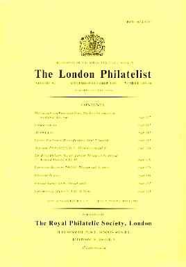 Literature - London Philatelist Vol 92 Number 1089-90 dated Sept-Oct 1983 - with articles relating to Ceylon, Argentine & Finland