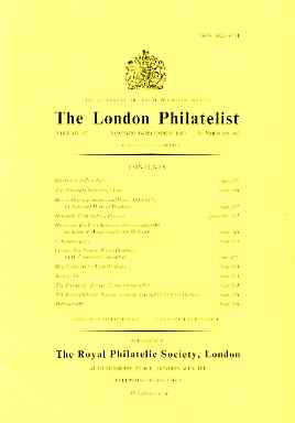 Literature - London Philatelist Vol 92 Number 1091-92 dated Nov-Dec 1983 - with articles relating to Rhodesia & Ceylon