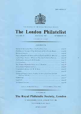 Literature - London Philatelist Vol 93 Number 1097-98 dated May-Jun 1984 - with articles relating to Switzerland, Ceylon, Chile & Thematics