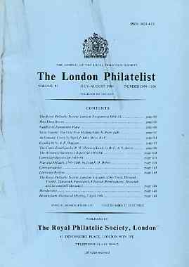 Literature - London Philatelist Vol 93 Number 1099-1100 dated July-Aug 1984 - with articles relating to St Vincent & Comic Envelopes