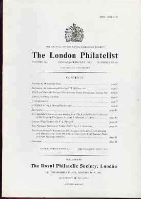 Literature - London Philatelist Vol 94 Number 1105-06 dated Jan-Feb 1985 - with articles relating to Stellaland, New Zealand (The Royal Collection), Victoria & Thematics
