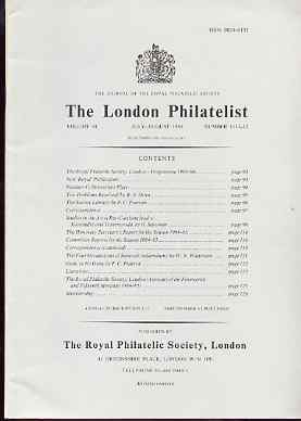 Literature - London Philatelist Vol 94 Number 1111-12 dated July-Aug 1985 - with articles relating to Sarawak