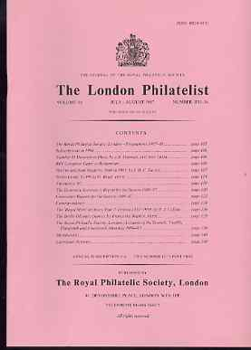 Literature - London Philatelist Vol 96 Number 1135-36 dated July-Aug 1987 - with articles relating to Madeira, Sierra Leone, Ireland & 1936 Berlin Olympics