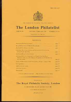 Literature - London Philatelist Vol 98 Number 1153-54 dated Jan-Feb 1989 - with articles relating to Colombia, New South Wales & Australia (The Royal Collection)