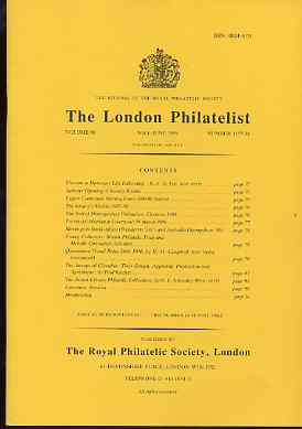 Literature - London Philatelist Vol 98 Number 1157-58 dated May-Jun 1989 - with articles relating to Queensland & Gibraltar