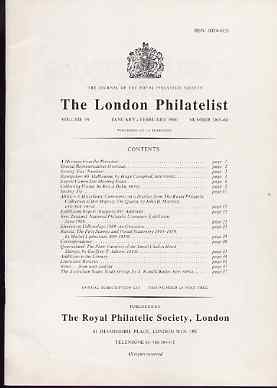 Literature - London Philatelist Vol 99 Number 1165-66 dated Jan-Feb 1990 - with articles relating to Africa (The Royal Collection), Russia & Queensland