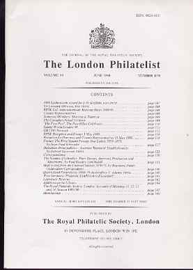 Literature - London Philatelist Vol 99 Number 1170 dated June 1990 - with articles relating to France, Austria, Gibraltar, Channel Islands & Queensland