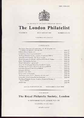 Literature - London Philatelist Vol 99 Number 1171-72 dated July-Aug 1990 - with articles relating to Nevis 7 Bicycles (Thematic)