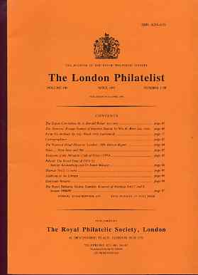 Literature - London Philatelist Vol 100 Number 1180 dated April 1991 - with articles relating to Russia & Poland