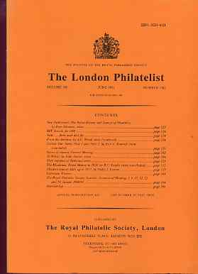 Literature - London Philatelist Vol 100 Number 1182 dated June 1991 - with articles relating to Ceylon, Rhodesia & Channel Islands