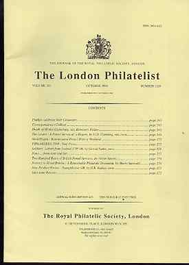 Literature - London Philatelist Vol 103 Number 1219 dated October 1994 - with articles relating to Levant, Ireland & Norway