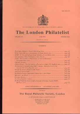 Literature - London Philatelist Vol 104 Number 1226 dated June 1995 - with articles relating to France, Falkland Islands, Australia & Queensland
