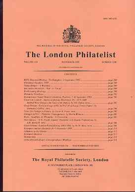Literature - London Philatelist Vol 104 Number 1230 dated November 1995 - with articles relating to Great Britain & New Guinea