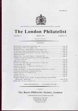 Literature - London Philatelist Vol 105 Number 1233 dated March 1996 - with articles relating to Papal States, Liberia, The Gambia & Downey Heads