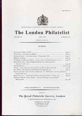 Literature - London Philatelist Vol 105 Number 1234 dated April 1996 - with articles relating to Railways, Austro-Hungarian POs in Crete, Norway, New Guinea & Papua