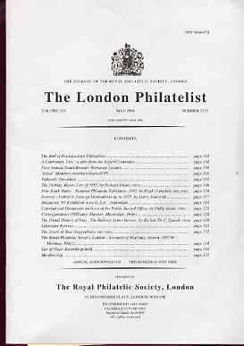 Literature - London Philatelist Vol 105 Number 1235 dated May 1996 - with articles relating to Perkins Bacon, Norway, Public Records Office & Iraq