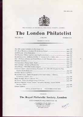 Literature - London Philatelist Vol 105 Number 1236 dated June 1996 - with articles relating to St Helena, Fiji, Triest & Ionoan Islands