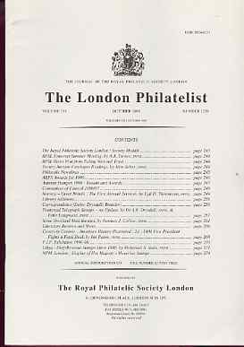 Literature - London Philatelist Vol 105 Number 1239 dated October 1996 - with articles relating to Norway - Great Britain Airmails, Transvaal Telegraphs & Libya