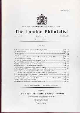 Literature - London Philatelist Vol 105 Number 1240 dated November 1996 - with articles relating to De La Rue, Mauritius & Liverpool Packet Mark